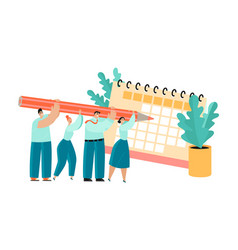 conceptual project planning teamwork vector image