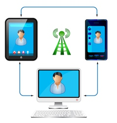 connectivity vector image