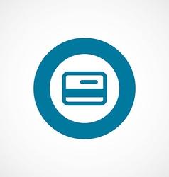 Credit card bold blue border circle icon vector