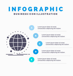 data global internet network web infographics vector image