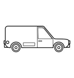 Delivery car icon outline style vector image