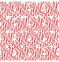 Design seamless colorful doodle heart pattern vector