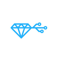 Digital diamond logo icon design vector