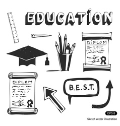 Education and school icon set vector image