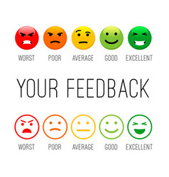 feedback emotion icons vector image