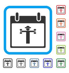 fitness calendar day framed icon vector image