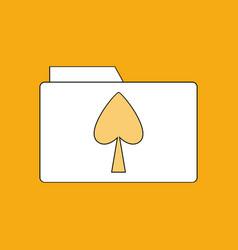 flat icon design collection spade symbol on folder vector image