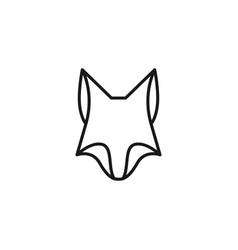 fox logo icon vector image