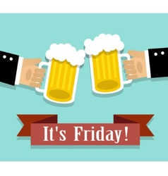 Friday relaxation and alcohol vector