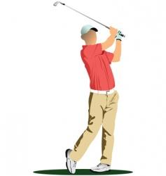 Golfer stencil vector