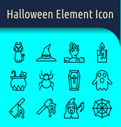 halloween line icon2 vector image