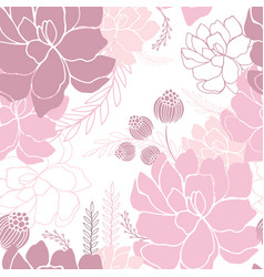 hand drawn floral seamless background pattern vector image