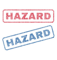 Hazard textile stamps vector