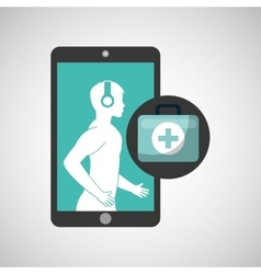 Healthcare app first aid graphic vector