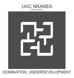 Icon with african adinkra symbol uac nkanea vector