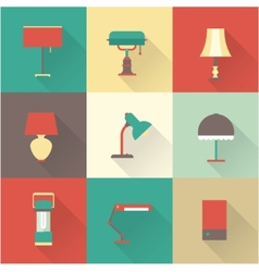Lamps styles vector