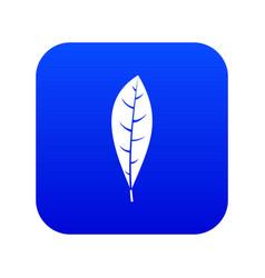 leaf icon digital blue vector image
