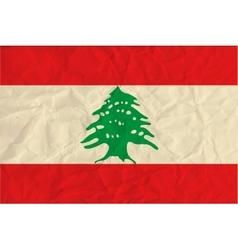 Lebanon paper flag vector image