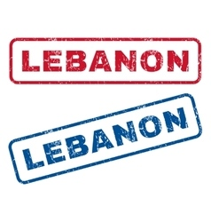 Lebanon Rubber Stamps vector