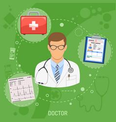 medical doctor square banner vector image