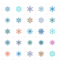 Mini icon set - snowflake icon vector