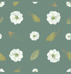 natural seamless pattern with delicate flowers and vector image