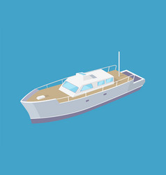passenger liner marine travel vessel icon vector image