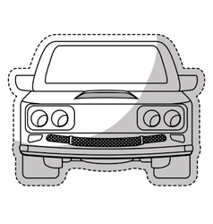 pick up truck icon vector image
