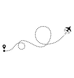 Plane with track in flat style vector