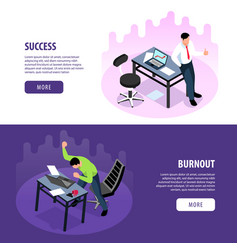 professional burnout banners vector image