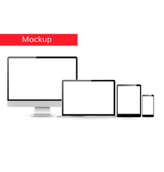 Responsive design template computer vector