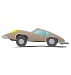 Retro cartoon car vector image