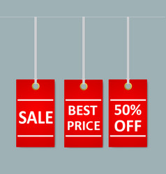 sale stickers tags with special advertisement vector image