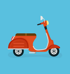 Scooter motorcycle modern flat vector