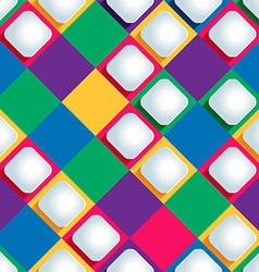 seamless pattern from paper rhombus on a colored vector image