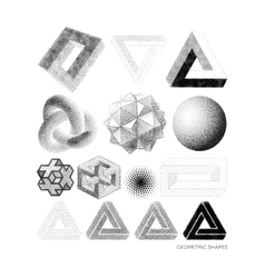 Set geometric shapes vector