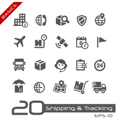 Shipping and tracking icons - basics vector