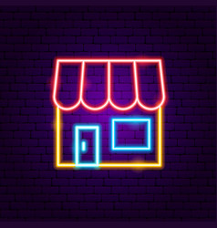 shop neon sign vector image