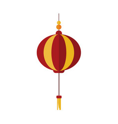simple gold red chinese lantern graphic vector image