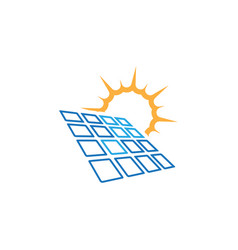 solar panel icon design template isolated vector image