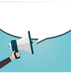 Speaking businessman vector image vector image