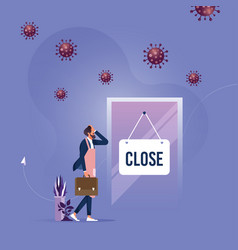 store shop is closed-bankrupt business vector image
