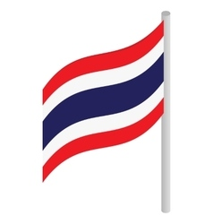 Thailand flag icon isometric 3d style vector