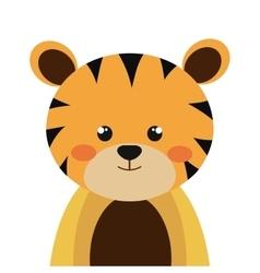 tiger animal cartoon vector image
