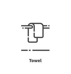 towel icon symbol vector image