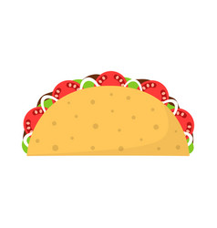 traditional taco isolated on white background vector image