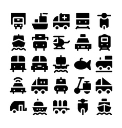 Transport icons 4 vector