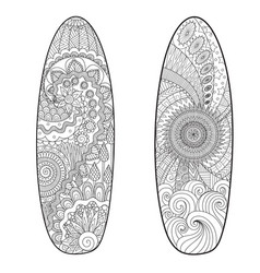 two surfboards vector image
