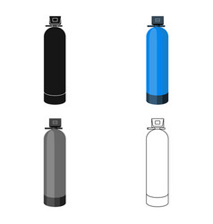 water filter machine icon in cartoon style vector image