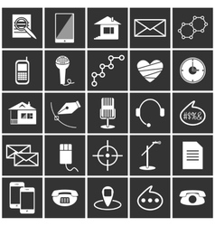 White icons vector image